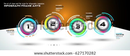 Stock photo: Infograph template with multiple choices and a lot of infographic design elements