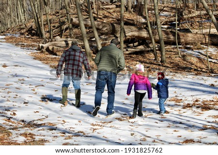 Grandfather holding his granddaughter hand in the forest Stock photo © wavebreak_media