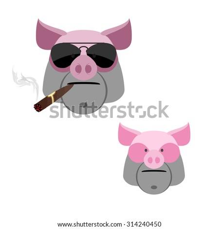 vier · desen · animat · faţă · vector · imagine · mascota - imagine de stoc © popaukropa