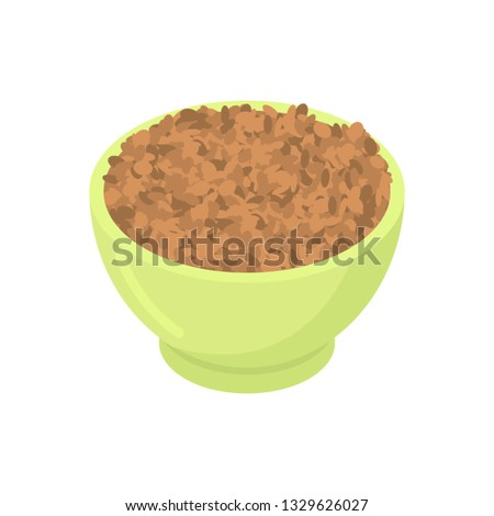 Bowl of Lentil gruel isolated. Healthy food for breakfast. Vecto Stock photo © MaryValery