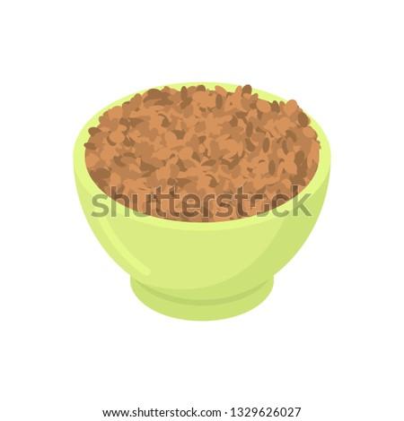 Puchar soczewica odizolowany zdrowa żywność śniadanie zielone Zdjęcia stock © MaryValery