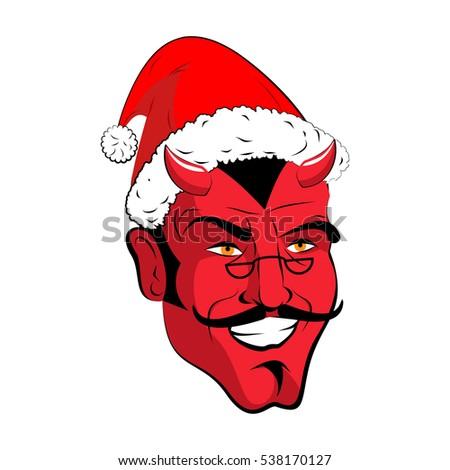 сатана Рождества монстр плохо детей Сток-фото © popaukropa