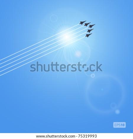 Jet vuelo cielo ilustración arte Foto stock © bluering