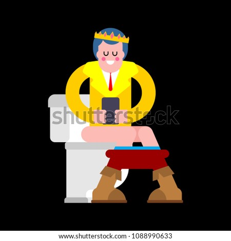 cartoon · toilettes · blanche · main · visage · chambre - photo stock © maryvalery