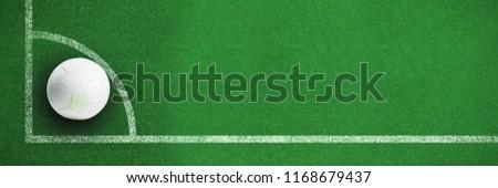 Witte leder voetbal gras zwart wit Stockfoto © wavebreak_media