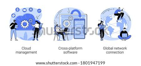 Linear Datenbank Server isoliert Web mobile Stock foto © kyryloff