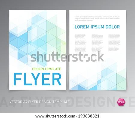 Brochure design modello colorato blu moderno Foto d'archivio © Diamond-Graphics