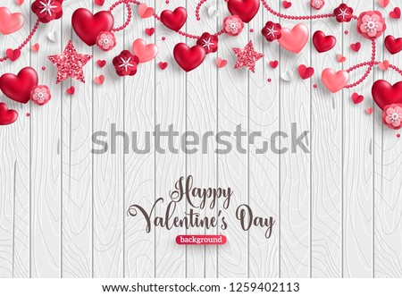 White  Flower vector Heart for Valentine's Day on pink backgroun Stock photo © LisaShu