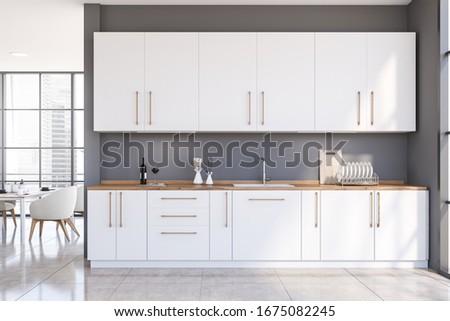 кухне интерьер чистой пусто общий Сток-фото © albund