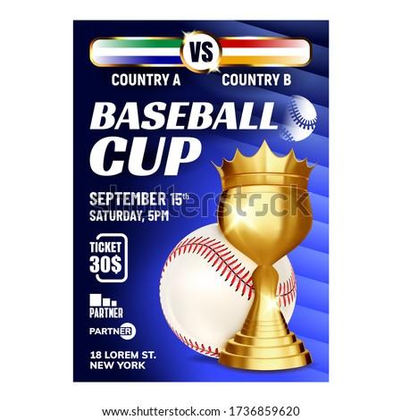 Baseball díj vektor labda arany csésze Stock fotó © pikepicture