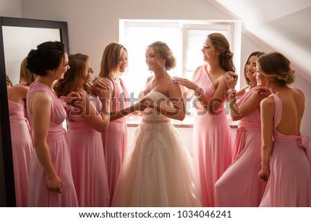 Dama de honor novia boda día lujo Foto stock © ruslanshramko
