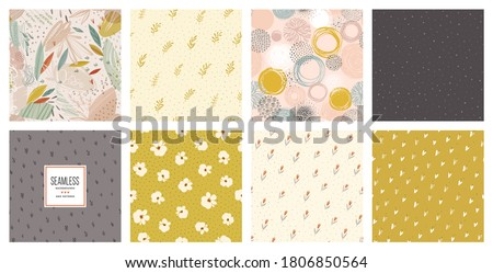 set of baby shower patterns seamless pattern vector baby elephant vector set graphic design eleme stock photo © lemony
