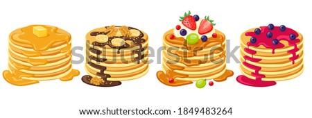 自家製 チョコレート バナナ パンケーキ 美しい デザート ストックフォト © Peteer