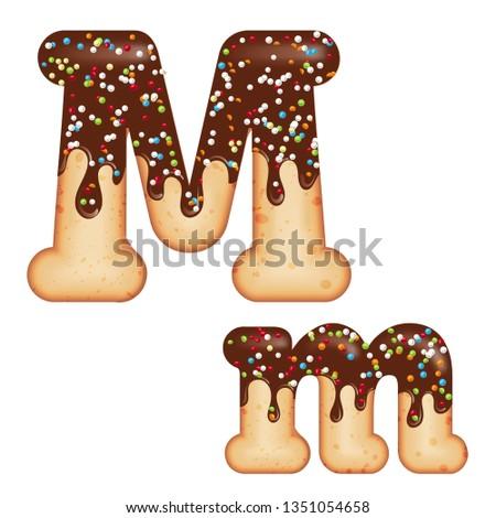 letter · m · snoep · doopvont · karamel · alfabet · lolly - stockfoto © balasoiu