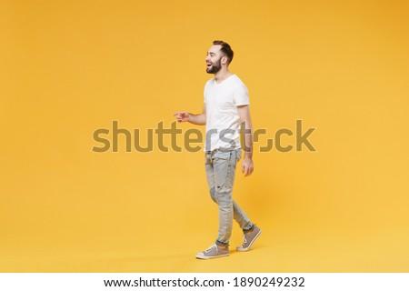 Imagem europeu barbudo homem casual Foto stock © deandrobot