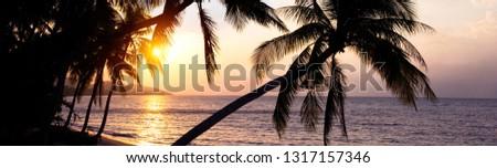 Beautiful horizontal image breathtaking sunset over Siam gulf on Stock photo © amok