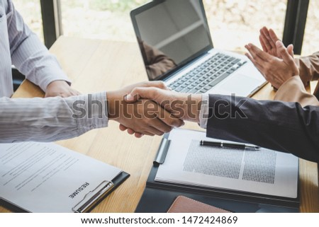 挨拶 · 新しい · 同僚 · ハンドシェーク · 仕事 · 男性 - ストックフォト © freedomz