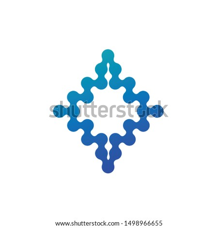 Abstract Molecular nanotechnology geometric shape. Stock Vector illustration isolated on white backg Stock photo © kyryloff
