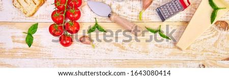 Afiş İtalyan gıda hazır pişirme gıda çerçeve Stok fotoğraf © Illia