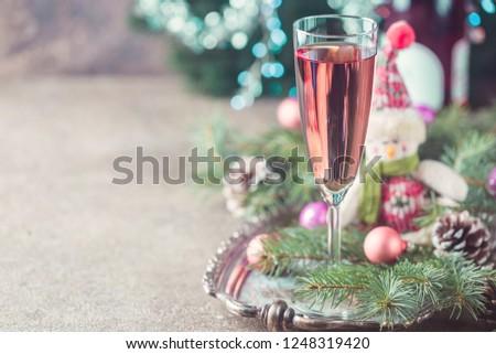 шампанского бутылку шкатулке розовый праздник блеск Сток-фото © Anneleven