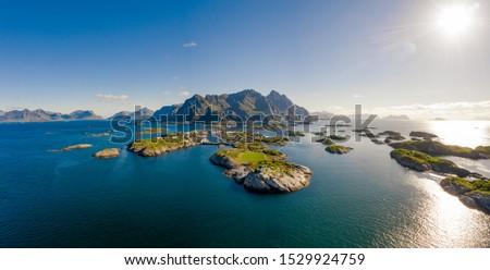 Arcipelago Norvegia scenario drammatico montagna open Foto d'archivio © cookelma