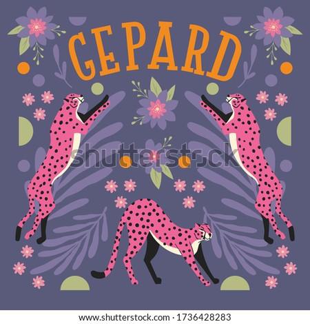 コレクション かわいい 手描き ピンク ジャンプ ストレッチング ストックフォト © BlueLela