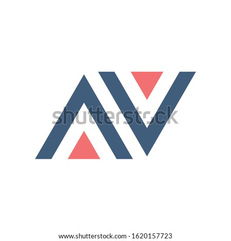 AV VA A V initial based letter icon triangle geometric logo. Technology business identity concept. C Stock photo © kyryloff