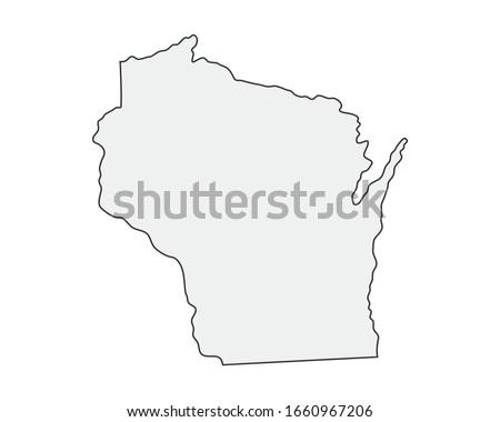 Wektora zestaw flagi amerykański Wisconsin inny Zdjęcia stock © butenkow