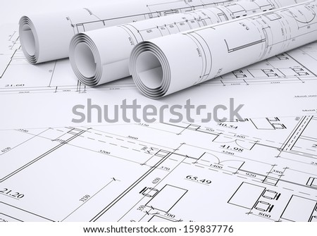 Black and white house floor plan with interior details, seamless pattern Stock photo © evgeny89