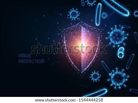 Virus protection abstract concept vector illustrations. Stock photo © RAStudio