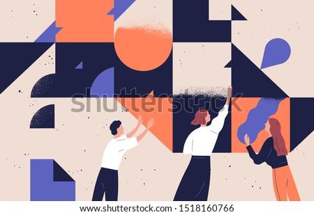 Employment process abstract concept vector illustrations. Stock photo © RAStudio