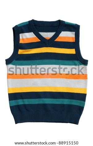 Children's wear - sleeveless pullover isolated on a white backgr Stock photo © RuslanOmega