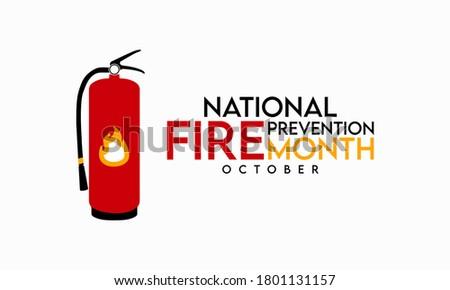 Vector fuego prevención aislado blanco seguridad Foto stock © dashadima
