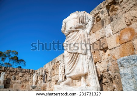 Roman statue at the Ruins of Salamis. Famagusta District, Cyprus Stock photo © Kirill_M