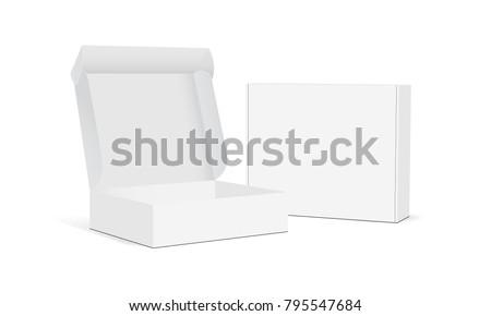 white product package box illustration isolated on white backgro stock photo © netkov1
