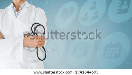Imagem feminino médico esqueleto Foto stock © wavebreak_media