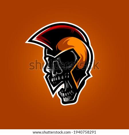 Zombie spartan guerrier militaire design visage Photo stock © Zuzuan
