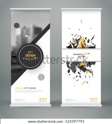 Yellow and black banner stand template, stand design,banner temp Stock photo © ganpanjanee