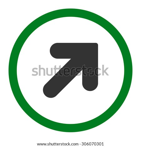 Arrow Right flat green and gray colors rounded raster icon Stock photo © ahasoft
