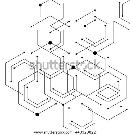 abstract · meetkundig · licht · vector · patroon · zwart · wit - stockfoto © balasoiu