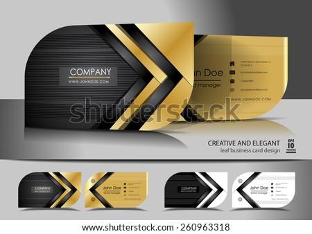 black dark stripes business card template vector design illustra Stock photo © SArts