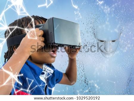 子供 3D 男性 バイナリコード 青 ストックフォト © wavebreak_media