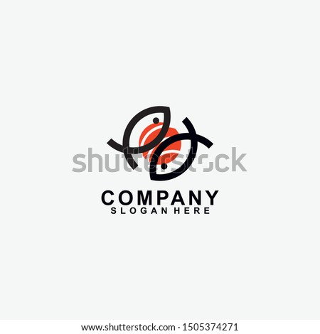 sushi restaurant flat style logo design for food company brand design or flyers stock photo © davidarts