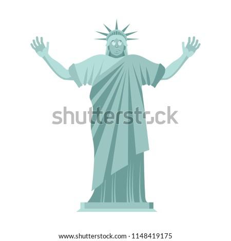 Posąg wolności zdziwiony punkt orientacyjny Ameryki rzeźba Zdjęcia stock © popaukropa