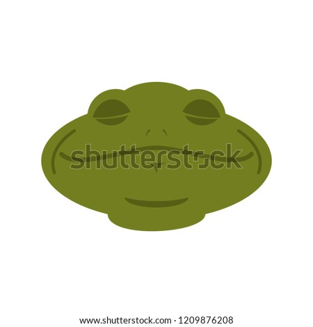 Frog Sleeping emoji. toad Avatar asleep amphibious. Emotion Rept Stock photo © popaukropa