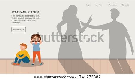 Zły syn krzyczeć przestraszony matka wektora Zdjęcia stock © pikepicture