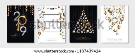 Boldog új évet illusztráció 3D szám fényes citromsárga Stock fotó © articular