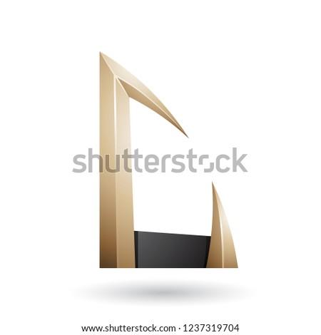 Beżowy czarny arrow litery wektora Zdjęcia stock © cidepix