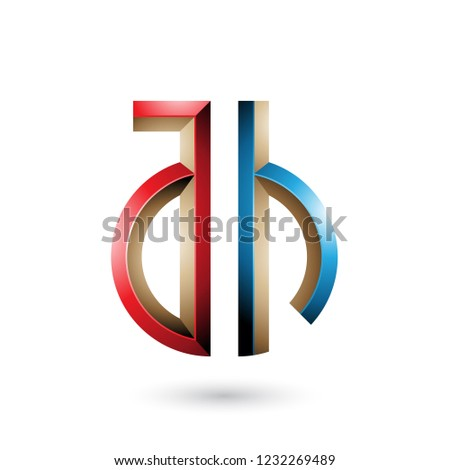 Red and Blue Key-like Symbol of Letters A and H Vector Illustrat Stock photo © cidepix