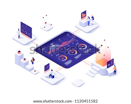 business success   modern colorful isometric vector illustration stock photo © decorwithme